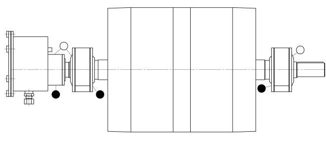 точки смазки шкивного железоотделителя