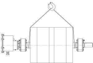 строповка шкивного железоотделителя