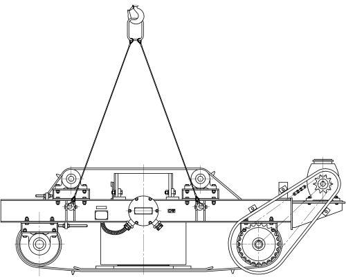строповка железоотделителя саморазгружающегося